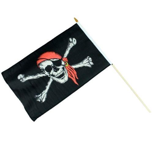 piratenvlag op houten stok