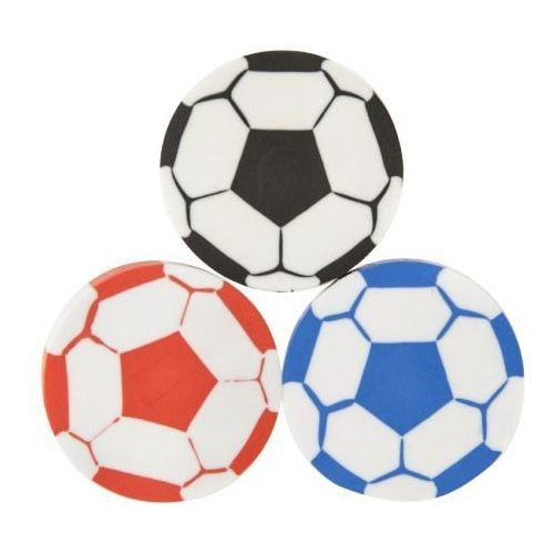 Voetbalgum in rood, blauw of zwart